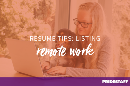 resume tips for listing remote work